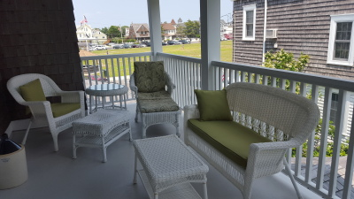 Victoria Second Floor Porch: Get together with other guests on our second floor porch for a drink, or curl up on the couch for a quiet place to read your book or catch up on emails.